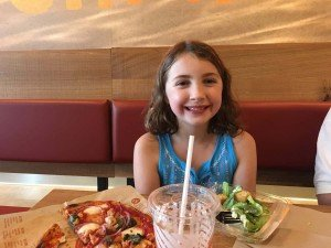 Blaze Pizza Ann Arbor - Enjoying her Meal