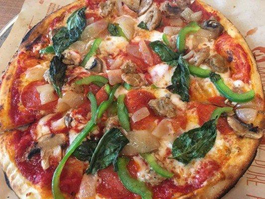 Blaze Pizza Ann Arbor - Sausage, Mushroom Pizza