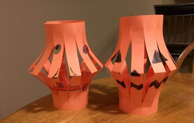 Paper Jack O'Lantern - Finished Products