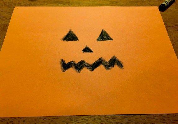 Paper Jack O'Lantern - Draw a Face