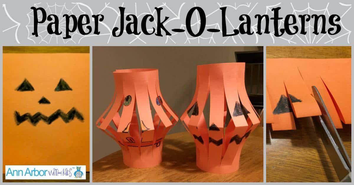 Paper Jack O'Lanterns