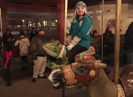 Greenfield Village - Holiday Nights - Riding the Carousel