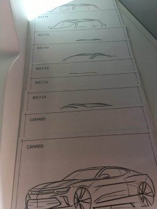 Family Friendly Auto Show Activities - Chevrolet Sketch Options