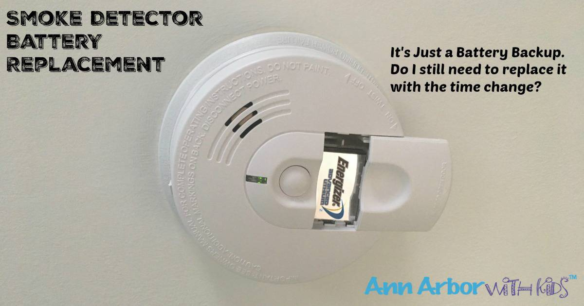 Smoke Detector Battery Replacement With Hard Wired Detectors Ann