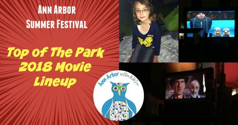Ann Arbor Summer Festival Top of the Park Movie Lineup for 2018
