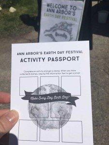 Ann Arbor Earth Day Festival - Activity Passport