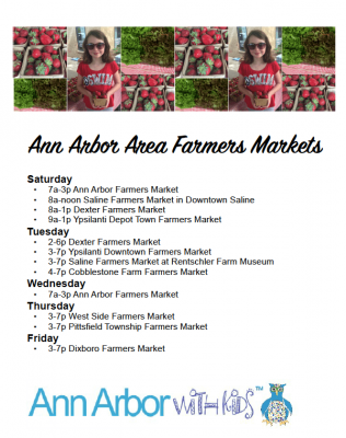 Ann Arbor Farmers Market Guide - Preview of Printable PDF