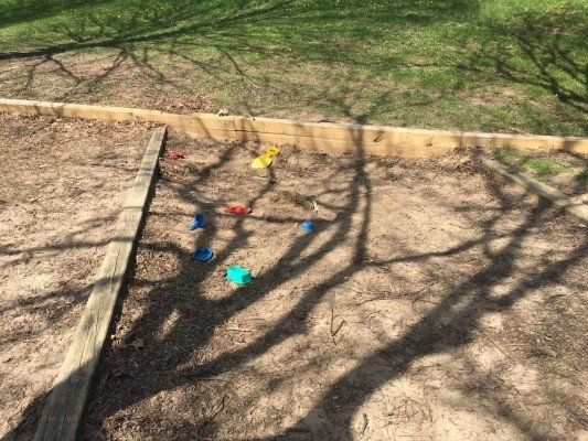 Hunt Park Playground Profile - Sandbox area lacks sand