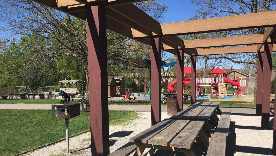 County Farm Park Playground Profile - View from Pavilion