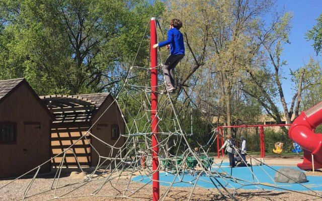 County Farm Park Playground Profile - Spider Climber