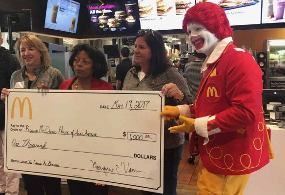 Lohr Rd McDonalds Grand Reopening - Check Presentation