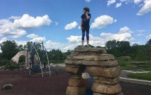 Olson Park Playground Profile - Queen of the Mountain