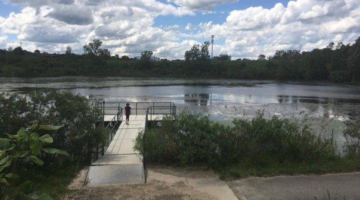 Olson Park Playground Profile - Pond