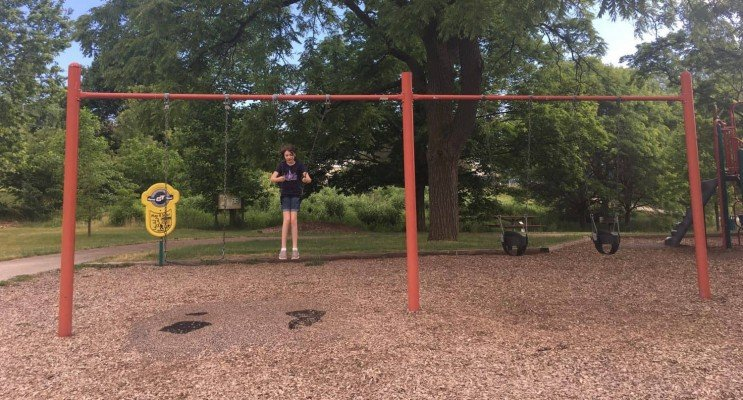 Buhr Park Playground - Swings
