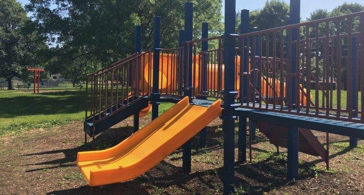 Candy Cane Park - Wide Slide