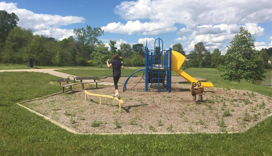 Leslie Park Playground Profile - Front Playground