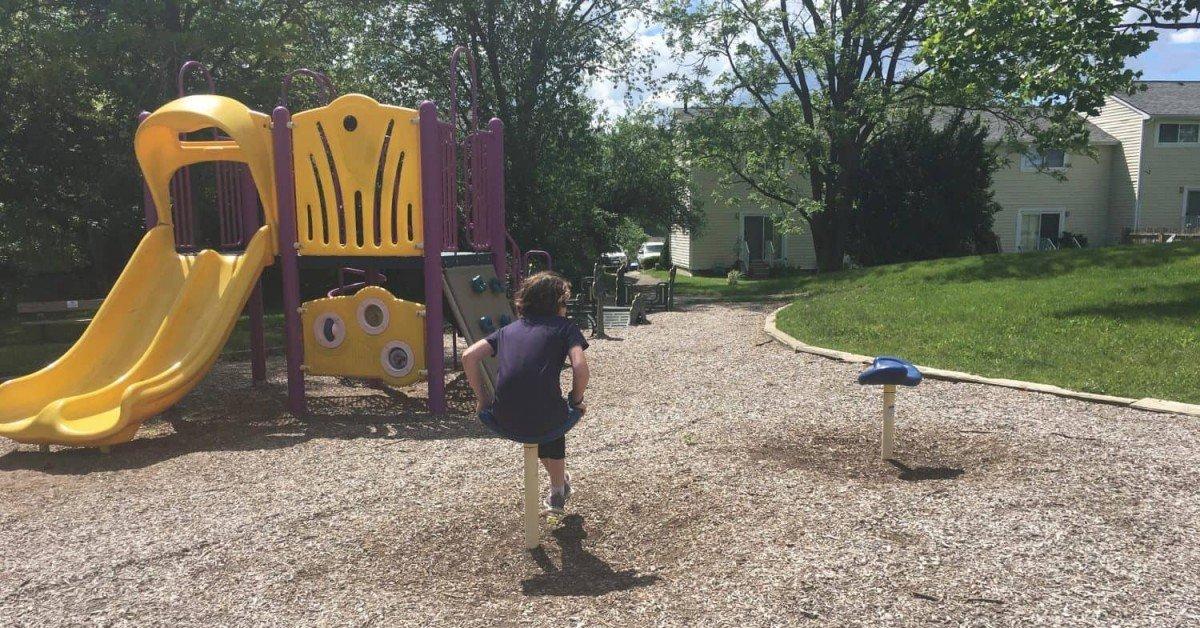 Leslie Park Playground Profile - Rear Playground