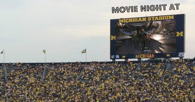 Ann Arbor Michigan Stadium Movie Night - Black Panther