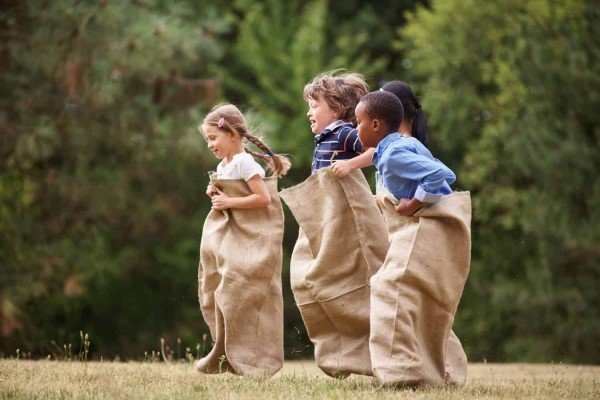 Vintage Summer Fun - Sack Races