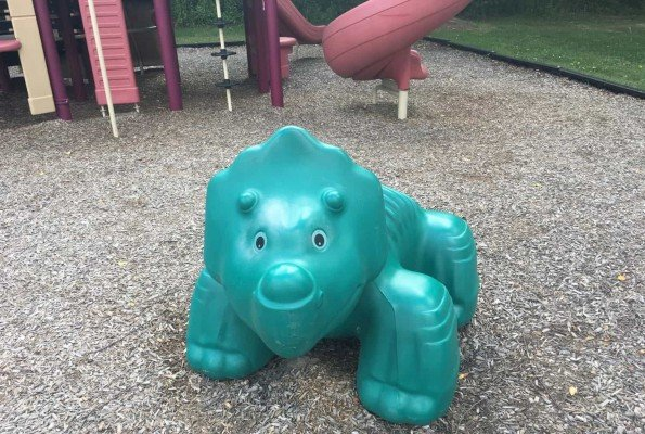 Woolley Park Playground Profile - Triceratops