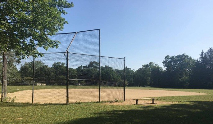 Frisinger Park Playground Review - Softball Field