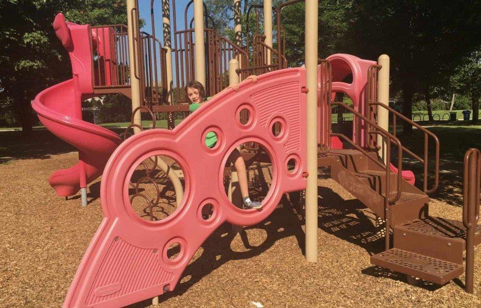 Frisinger Park Playground Profile - Wall Climb