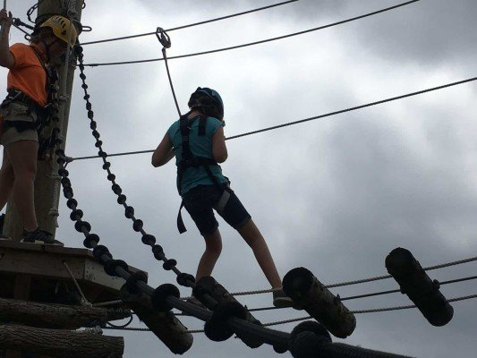 Toledo Zoo Aerial Adventure Course - Second Level of First Challenge Course