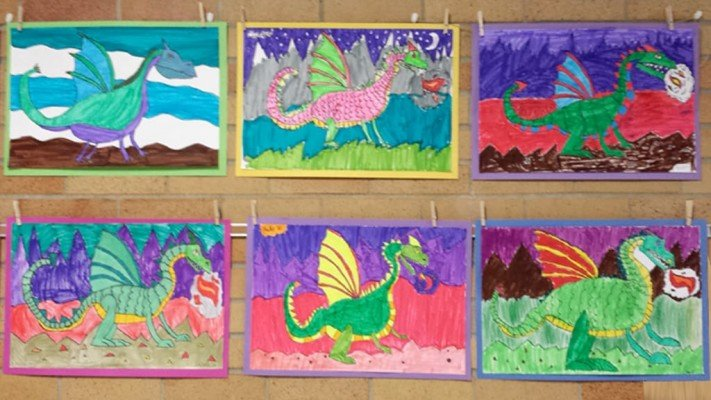 Young Rembrandts Power of Drawing - Dinosaur Drawings - Ann Arbor Summer Camp