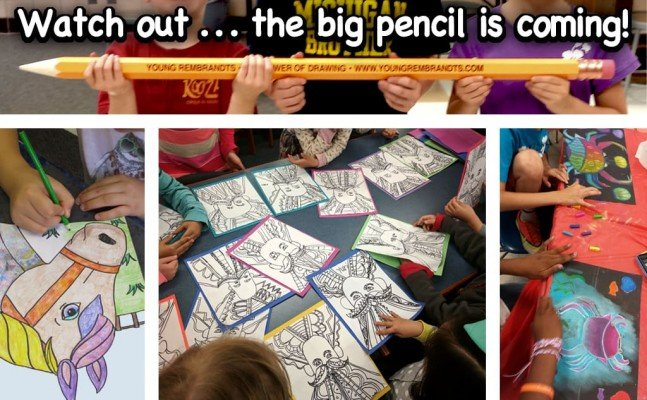 Young Rembrandts Power of Drawing - Big Pencil - Ann Arbor Summer Camp
