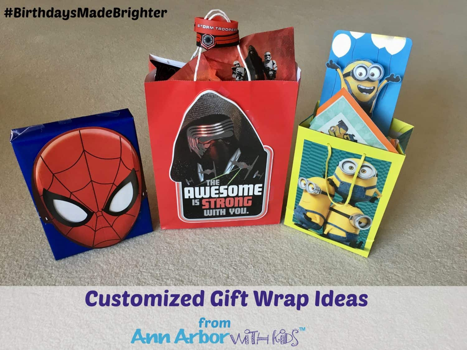 Birthdays Made Brighter - Customized Gift Wrap Ideas