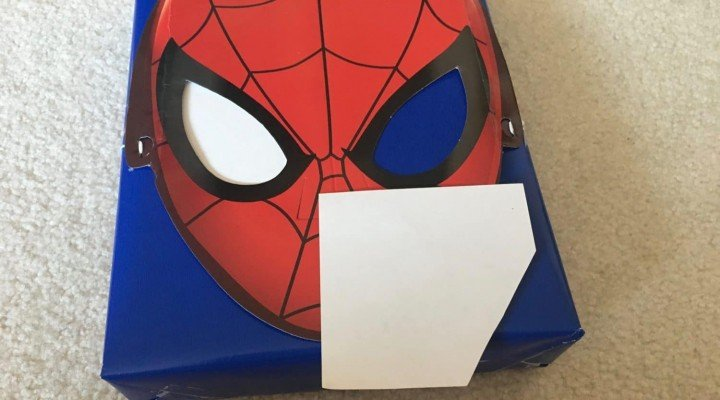Birthdays Made Brighter - Spiderman Adding White Eyes - Customized Gift Wrap Ideas