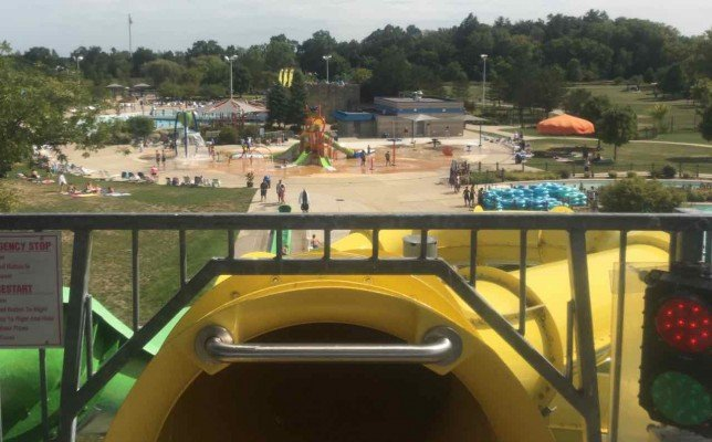 Rolling Hills Water Park - View from Top of Slide Tower