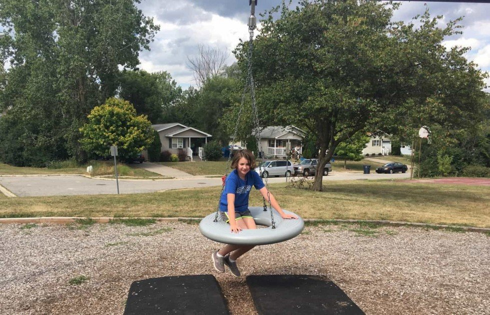 South Maple Park - Playground Profile - Tire Swing