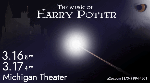 A2SO The Music of Harry Potter - March 16 & 17