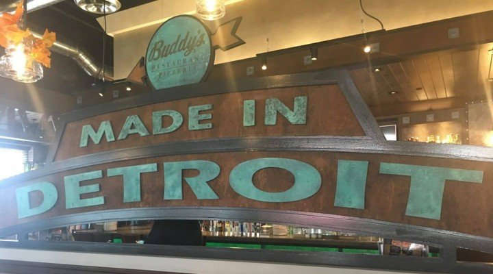 Ann Arbor Buddy's Made in Detroit Sign