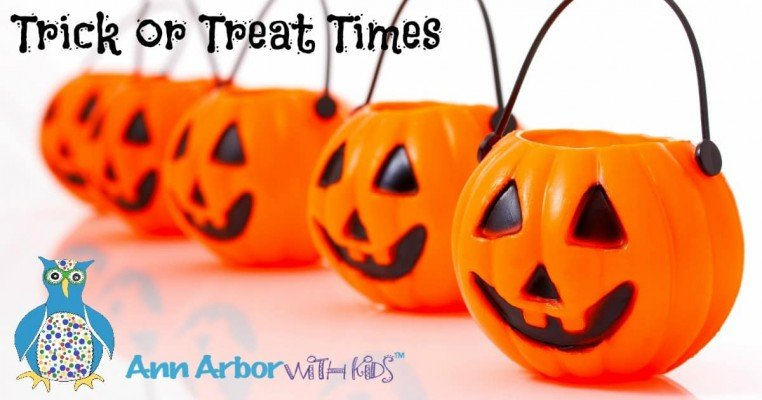 Ann Arbor Area Trick or Treat Times