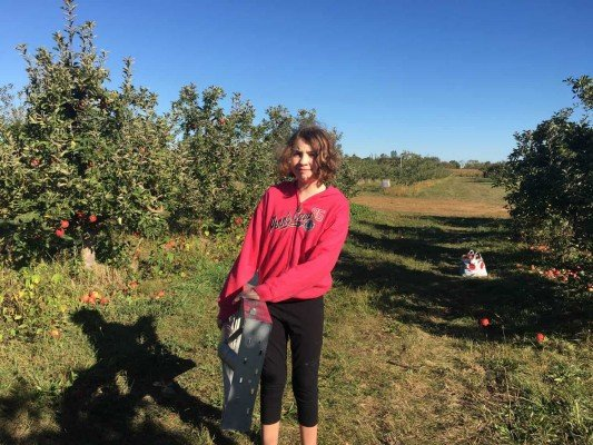 Apple Picking at Wasem Fruit Farm - Moving the Ladder