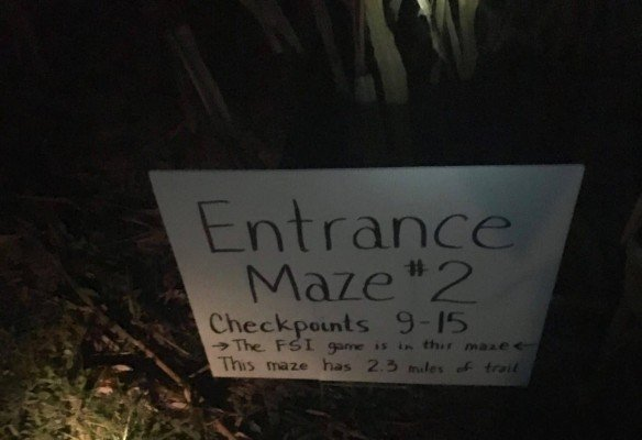 Colemans Corn Maze - Maze Entrance