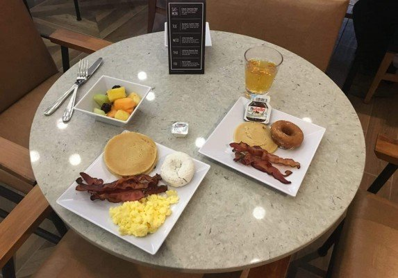 Staycation at Hyatt Place Ann Arbor - Breakfast - Table Set