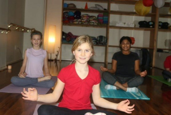 Peachy Fitness Tween Yoga Pose