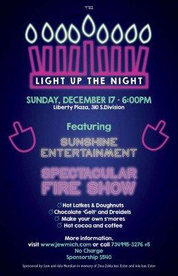 Light Up the Night - Menorah Lighting