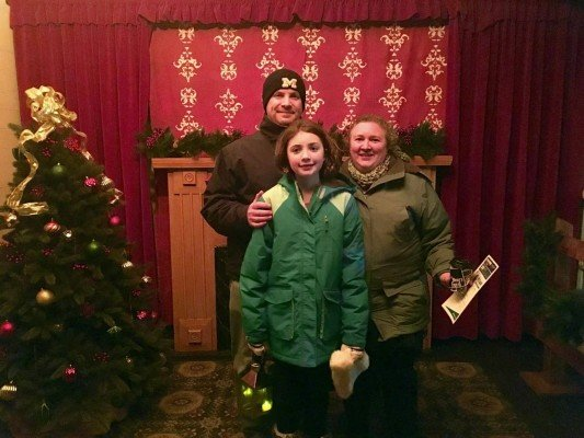 Greenfield Village Holiday Nights = Family Photo