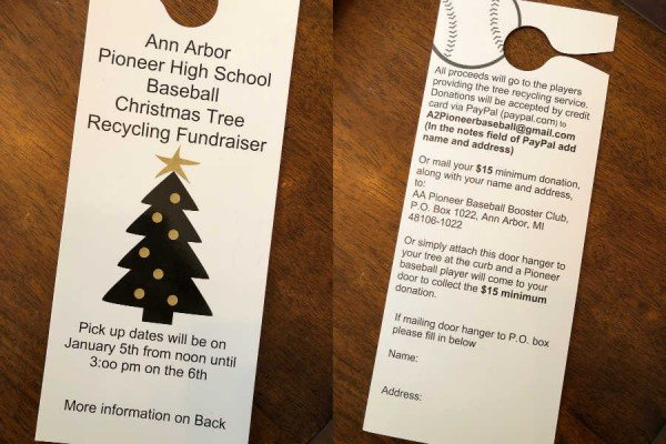 Ann Arbor Christmas Tree Disposal - Pioneer Baseball Information Flyer