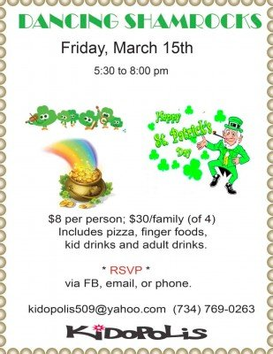 Kidopolis Dancing Shamrocks Family Dance - Friday, March 15