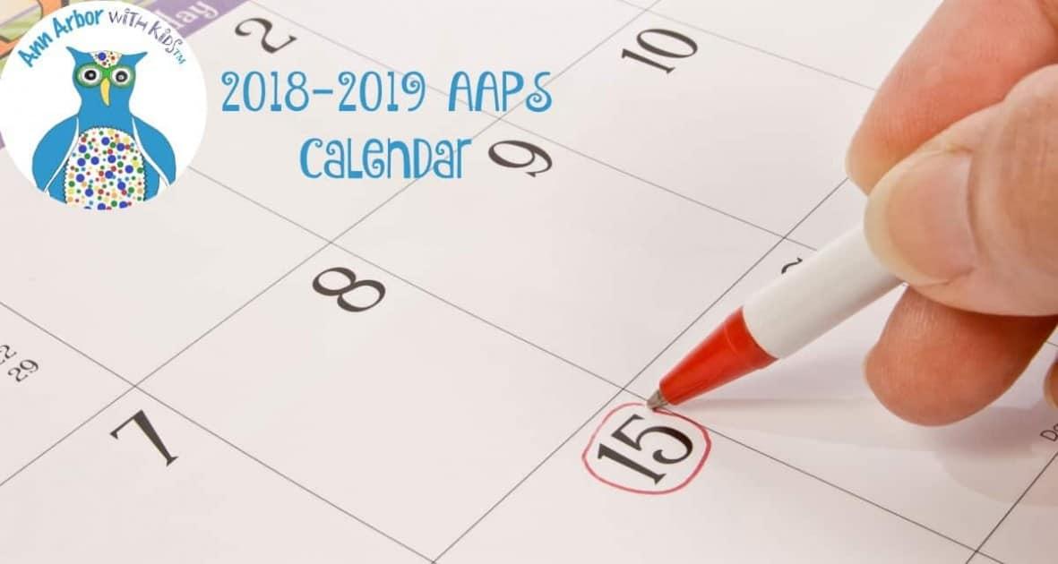 2018=2019 AAPS School Calendar