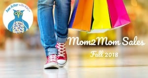 Ann Arbor Mom2Mom Sales Fall 2018