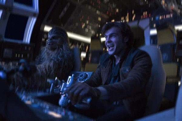 Solo: A Star Wars Story - Han & Chewie pilot the Falcon
