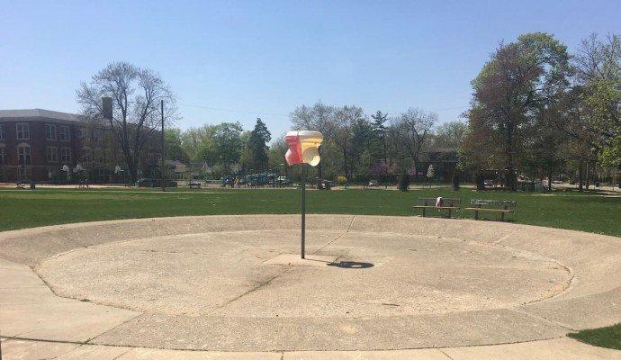 Ann Arbor Burns Park Playground Profile - Funnel Ball Hoop