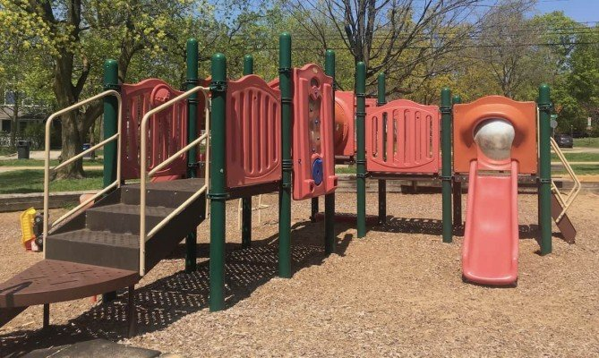 Ann Arbor Burns Park Playground Profile - Small Structure