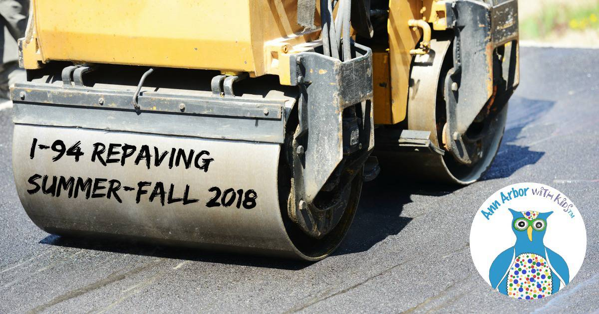 Ann Arbor I94 Repaving Summer 2018